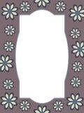 Rétro cadre de fleur Photographie stock