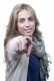 Une illustration d'une jeune femme positive Image libre de droits