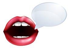Parler de bouche ou de lèvres Photographie stock