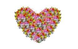 Une illustration de bouquets de forme de coeur Photographie stock libre de droits