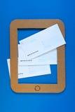 Une illustration de concept d'email sur le PC de comprimé Photographie stock