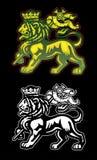 Lion de Rastafarian de Judah illustration stock