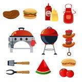Icônes de barbecue Illustration de Vecteur