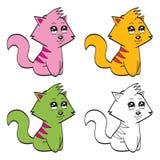 Chats mignons de bande dessinée Photo libre de droits