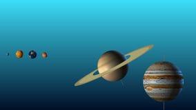 Une illustration des planètes de notre système solaire illustration stock