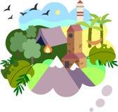 Une illustration du voyage rêveur illustration stock