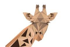 Une illustration polygonale de vecteur de girafe Photo stock