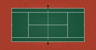 Une illustration réaliste texturisée de court de tennis Vecteur ENV 10 illustration de vecteur