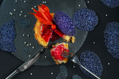 Une image curated de mon ensemble FIN de série Bâtons frais de crabe sur SH Photographie stock libre de droits