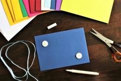Une image d'une enveloppe, bureau photo stock