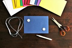Une image d'une enveloppe, bureau photographie stock libre de droits