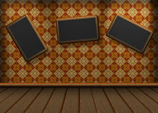 Une image d'un étage et d'une trame 3 gentils Photographie stock