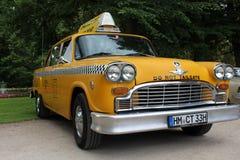 Une image d'un vintage, taxi américain images libres de droits