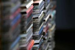 Une image de concept d'une collection cd - Cd de musique Images libres de droits