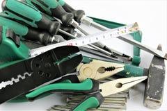 Une image de concept des outils d'un bricoleur photographie stock libre de droits