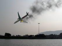 Catastrophe d'aviation d'accident d'avion Photo stock