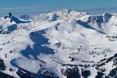 Une image scénique du pays des merveilles d'hiver de Whistler Images libres de droits