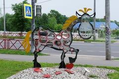 Une image stylisée des pommes hennissantes de cheval Images libres de droits