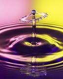 Une image transparente de baisse de l'eau sur un fond modifié la tonalité par deux photographie stock libre de droits