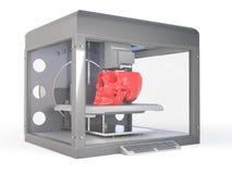 Une imprimante 3d imprimant un crâne Illustration Libre de Droits