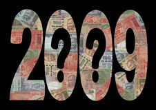 une incertitude 2009 économique Image stock