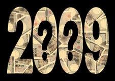 une incertitude 2009 économique Images stock