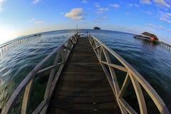 Une jetée d'île de mabul Photo libre de droits