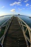 Une jetée d'île de mabul Image stock
