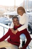 Une jeune famille des Etats-Unis est venue des vacances à Barcelone Photos stock