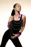 Une jeune femme à la mode sûre Image stock