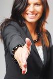 Une jeune femme d'affaires Image libre de droits