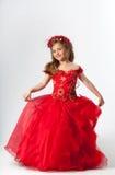 Une jeune fille dans le costume Image libre de droits