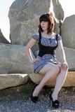 Une jeune jolie fille photographie stock
