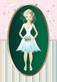 Une jeune mariée dans une robe de mariage Image libre de droits
