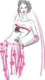 Une jeune mariée dans une robe de mariage images stock
