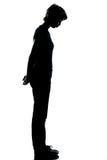 Une jeune silhouette de garçon ou de fille d'adolescent Photos libres de droits