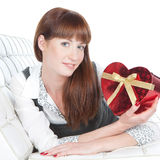 Une jolie fille au jour de Valentines Photo stock