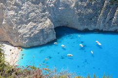 Une lagune/plage bleues Image libre de droits