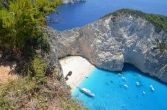 Une lagune/plage bleues Images libres de droits