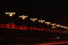 Une lampe au néon de noeud chinois Photographie stock