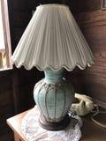 Une lampe de table de vintage image libre de droits