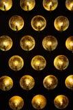 Une lampe métallique moderne avec les ampoules images stock