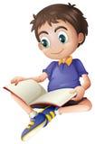 Une lecture de jeune homme illustration stock
