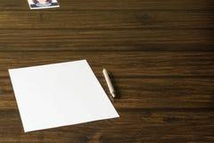 Une lettre à aimée, fille aimée Photos stock