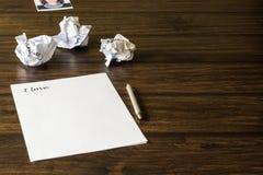 Une lettre à aimée, fille aimée Image stock
