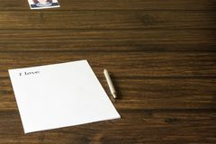 Une lettre à aimée, fille aimée Photo libre de droits