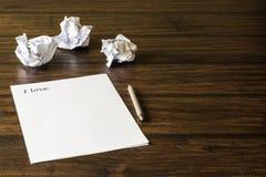 Une lettre à aimée, fille aimée Image libre de droits