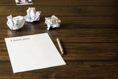 Une lettre à aimée, fille aimée Photos libres de droits