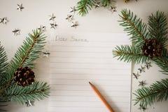Une lettre à Santa Image libre de droits