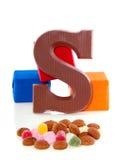 Une lettre de chocolat de Sinterklaas Images libres de droits